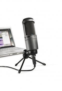 Kardioidni kondenzatorski mikrofon Audio-Technica AT2020 USB