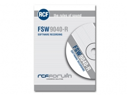 RCF-FSW 9040-R SOFTWARE FOR DIGITAL AUDIO RECORDING