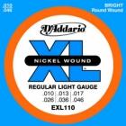 Žice za električnu gitaru D'Addario EXL 110